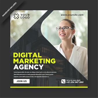 Modèle de conception instagram d'agence de marketing numérique