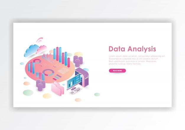 Modèle de conception isométrique d'analyse de données
