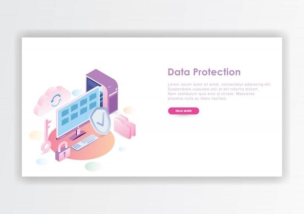Modèle de conception isométrique de protection des données