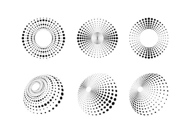 Modèle de conception de jeu de fond de style abstrait demi-teinte