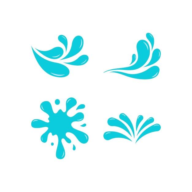 Modèle de conception de jeu d'icônes d'éclaboussures d'eau