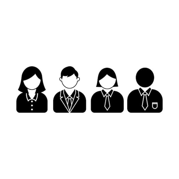 Modèle de conception de jeu d'icônes d'employé