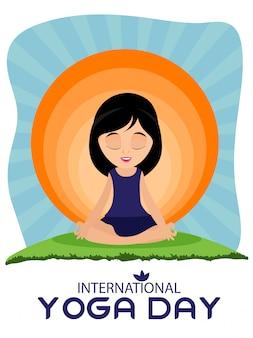 Modèle de conception de jour de yoga international