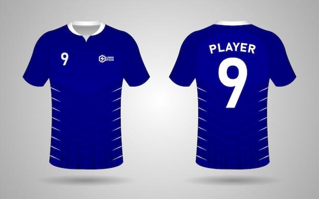Modèle de conception de kit de football de couleur bleue