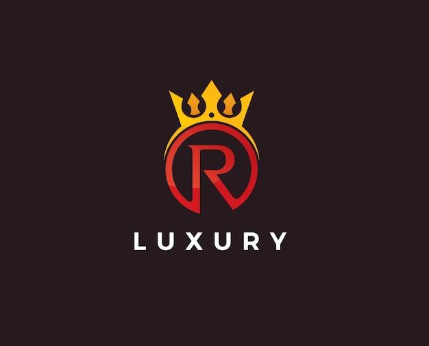 Modèle de conception de lettre initiale de logo r