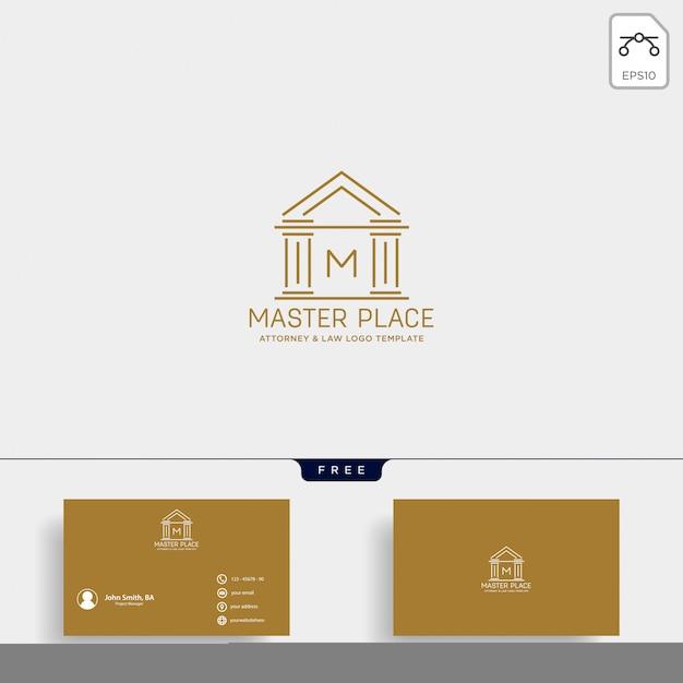Modèle de conception de ligne logo avocat