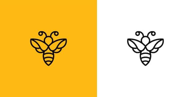 Modèle de conception de logo abeille