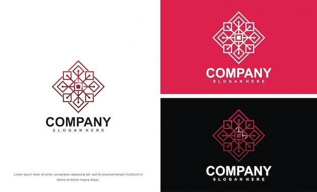 Modèle de conception de logo abstrait de beauté moderne premium
