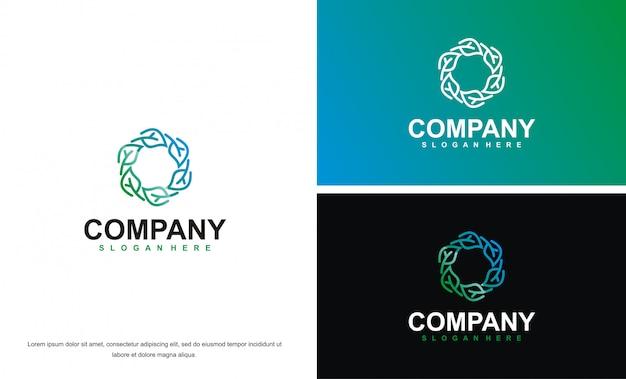 Modèle de conception de logo abstrait beauté moderne