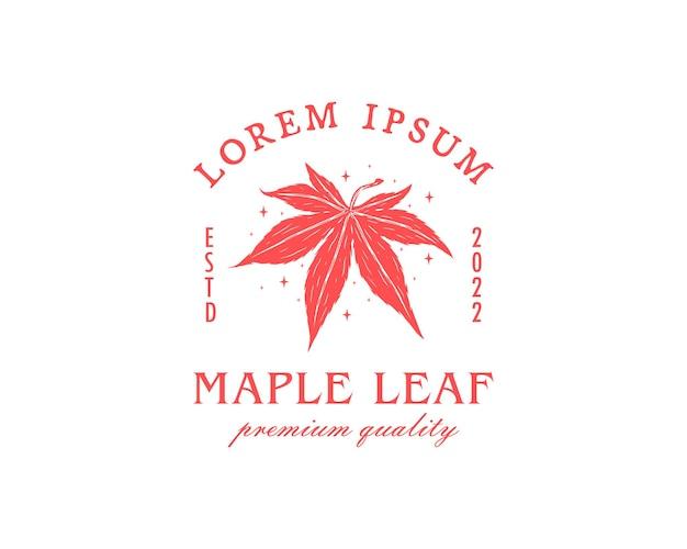 Modèle de conception de logo abstrait feuille d'érable classique