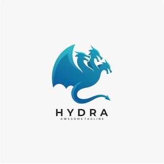 Modèle de conception de logo abstrait hydra