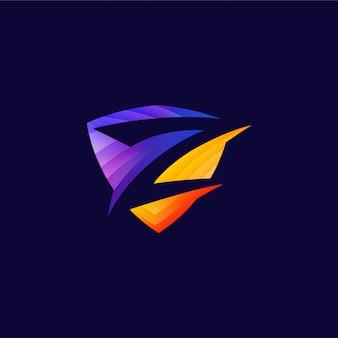 Modèle de conception de logo abstrait lettre z vibrant créatif