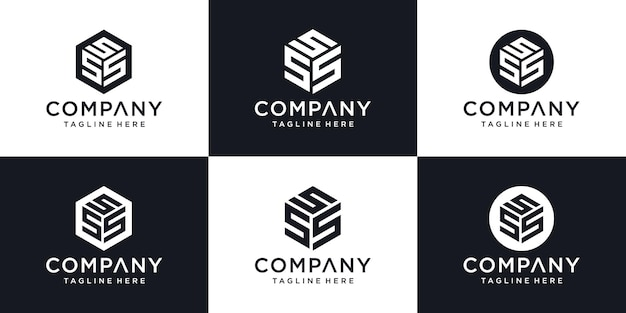 Modèle de conception de logo abstrait moderne lettre initiale s signe