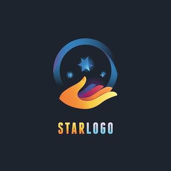 Modèle de conception de logo abstrait vectoriel