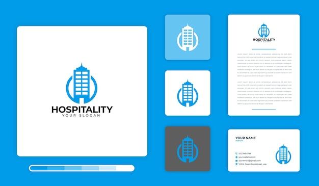 Modèle de conception de logo d'accueil