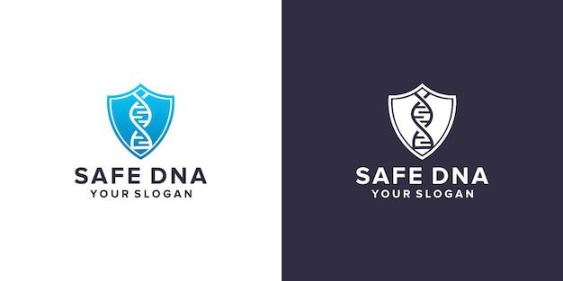 Modèle de conception de logo d'adn sûr