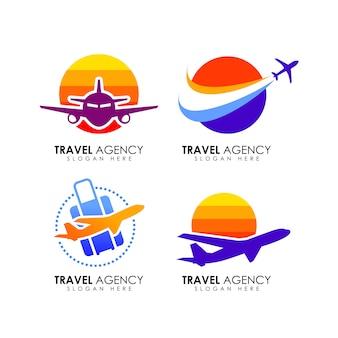 Modèle de conception de logo d'agence de voyage