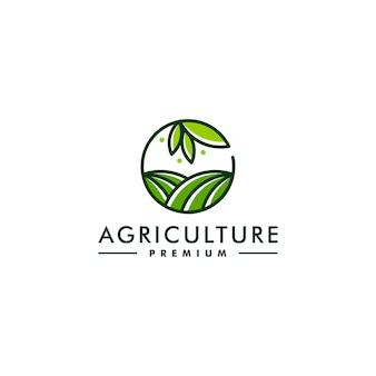Modèle de conception de logo de l'agriculture. vecteur de logo de symbole de ferme