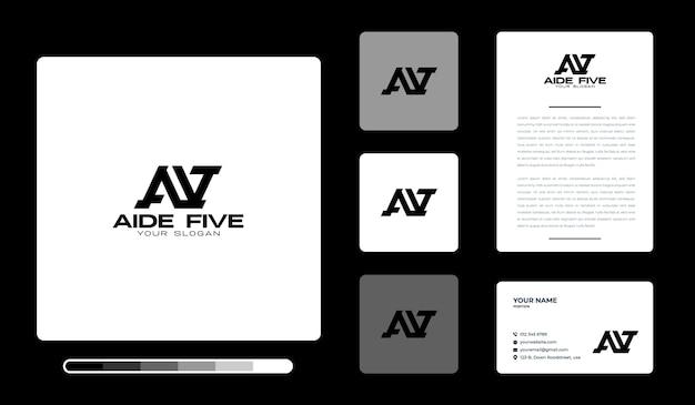 Modèle de conception de logo aide five
