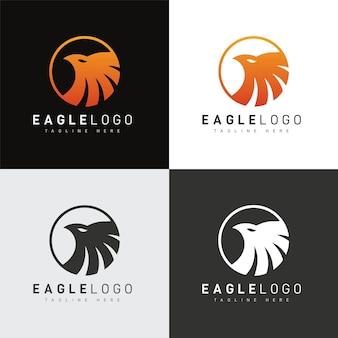 Modèle de conception de logo d'aigle