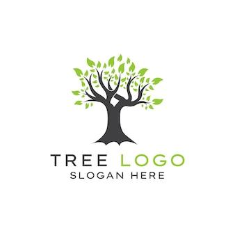 Modèle de conception de logo d'arbre créatif et unique