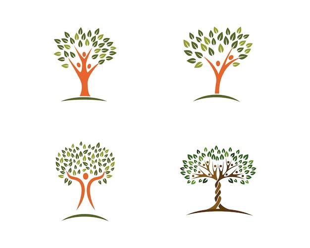 Modèle de conception de logo d'arbre généalogique
