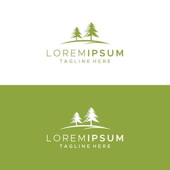 Modèle de conception de logo d'arbre