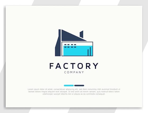 Modèle de conception de logo d'architecture d'usine de bâtiment industriel moderne
