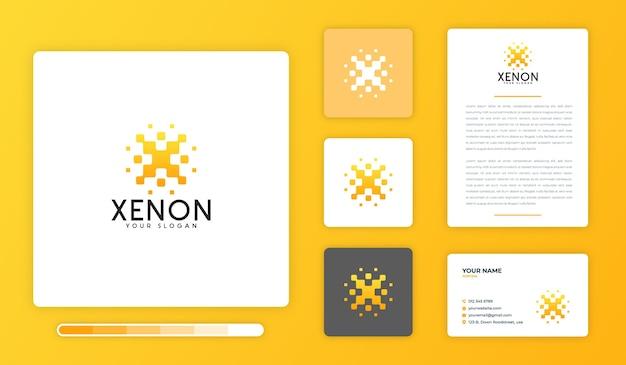 Modèle de conception de logo au xénon