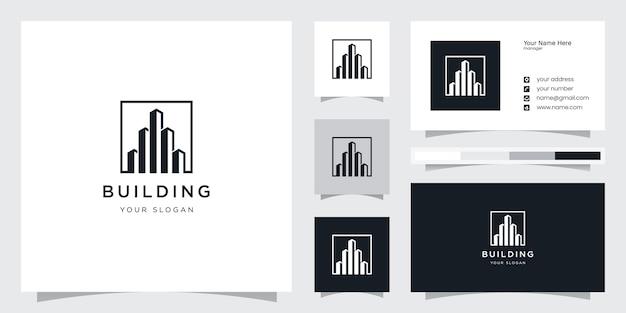 Modèle de conception de logo de bâtiment créatif