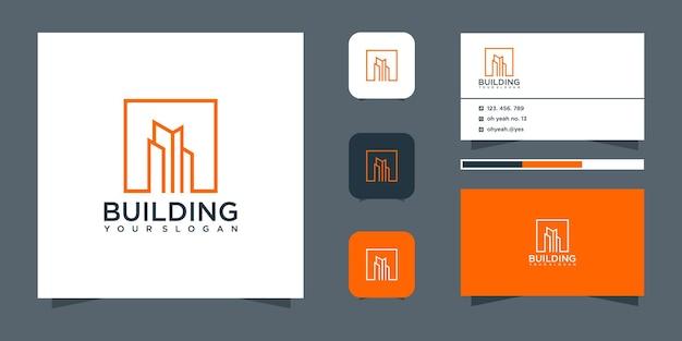 Modèle de conception de logo de bâtiment