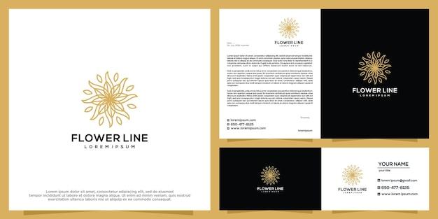 Modèle de conception de logo de beauté de fleur