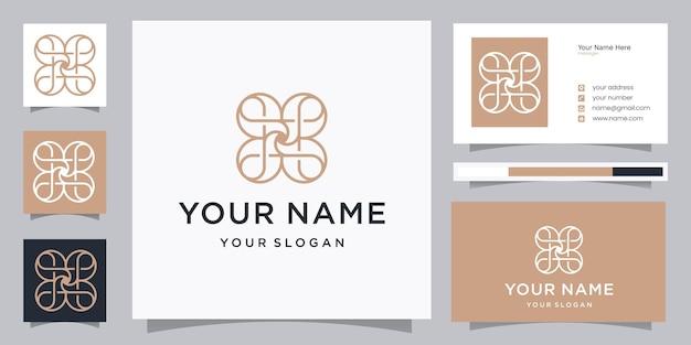 Modèle de conception de logo de beauté ornement élégant