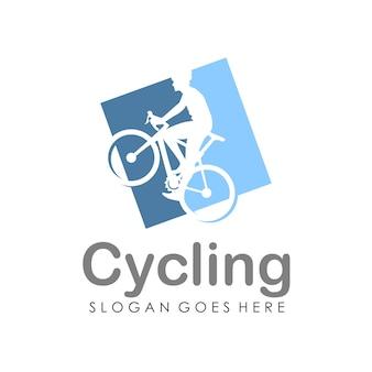 Modèle de conception de logo de bicyclette