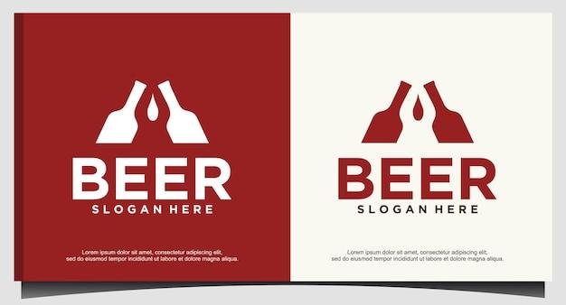Modèle de conception de logo de bière