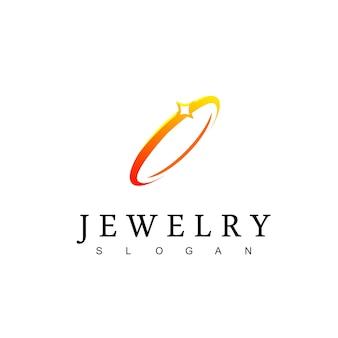 Modèle de conception de logo de bijoux