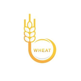 Modèle de conception de logo de blé de cercle