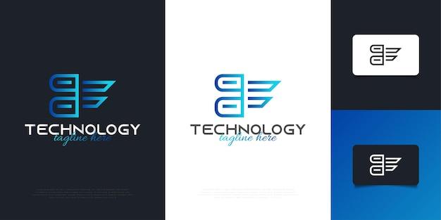 Modèle de conception de logo bleu lettre f moderne avec concept abstrait. symbole de l'alphabet graphique pour l'identité d'entreprise