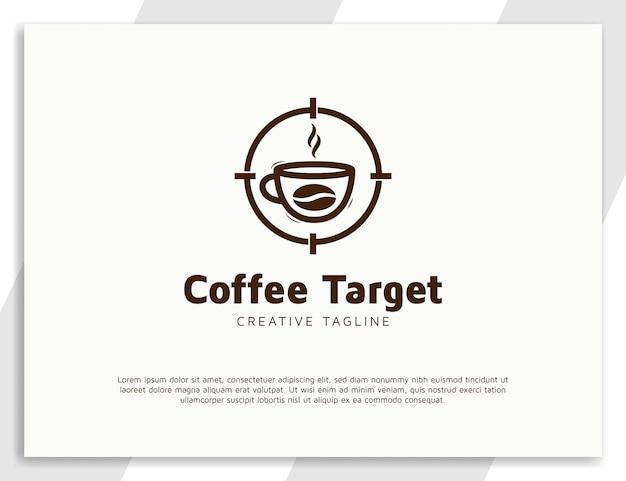 Modèle de conception de logo de boisson au café simple
