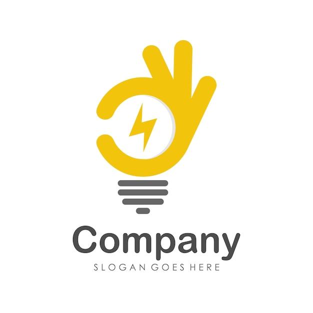 Modèle de conception de logo bonne énergie