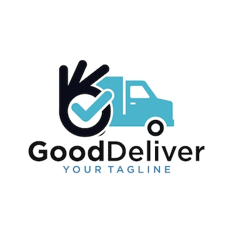 Modèle de conception de logo de bonne livraison