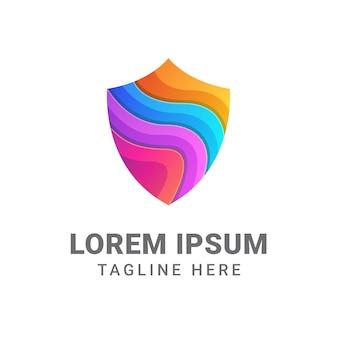 Modèle de conception de logo de bouclier