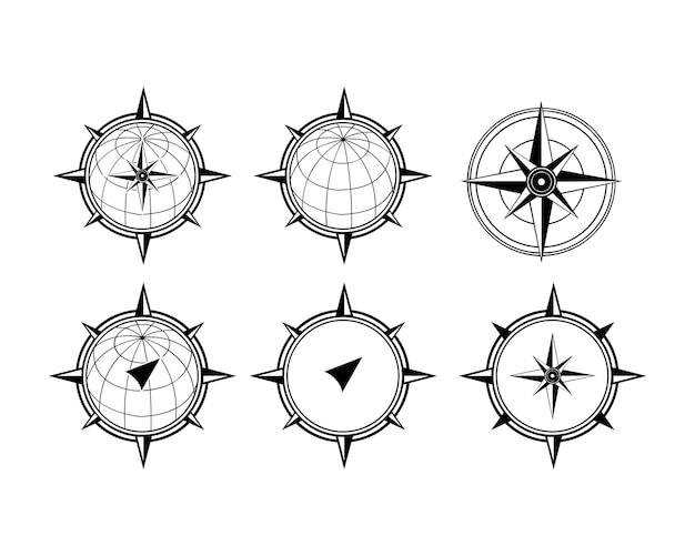 Modèle de conception de logo de boussole