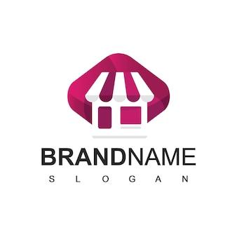 Modèle de conception de logo de boutique en ligne