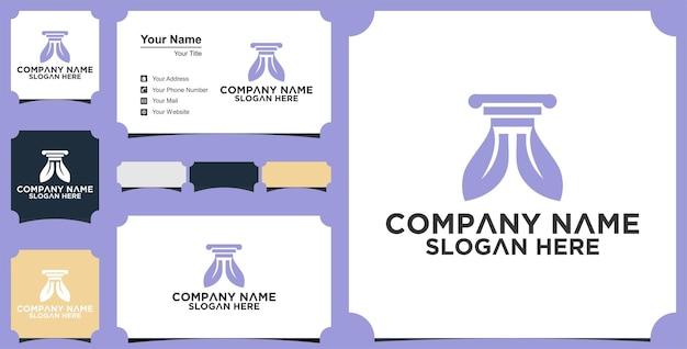 Modèle de conception de logo de cabinet d'avocats nature et carte de visite