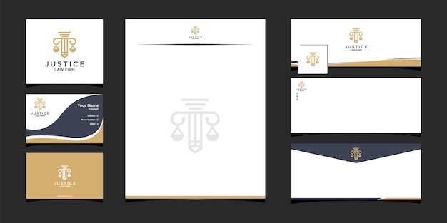 Modèle de conception de logo de cabinet d'avocats