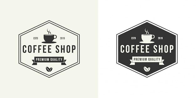 Modèle de conception de logo de café.
