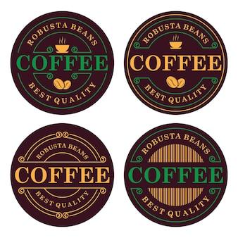 Modèle de conception de logo de café