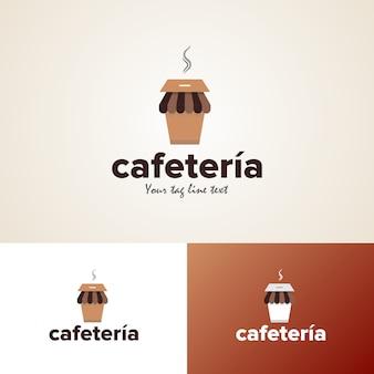 Modèle de conception de logo de cafétéria créative