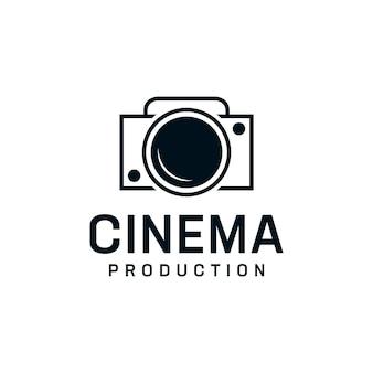 Modèle de conception de logo de caméra d'inspiration vintage.